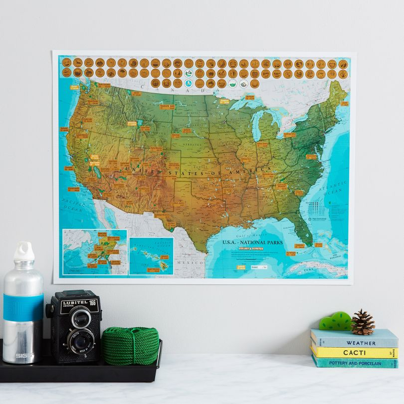 Scratch Off USA National Parks Print (Silk Art Paper)