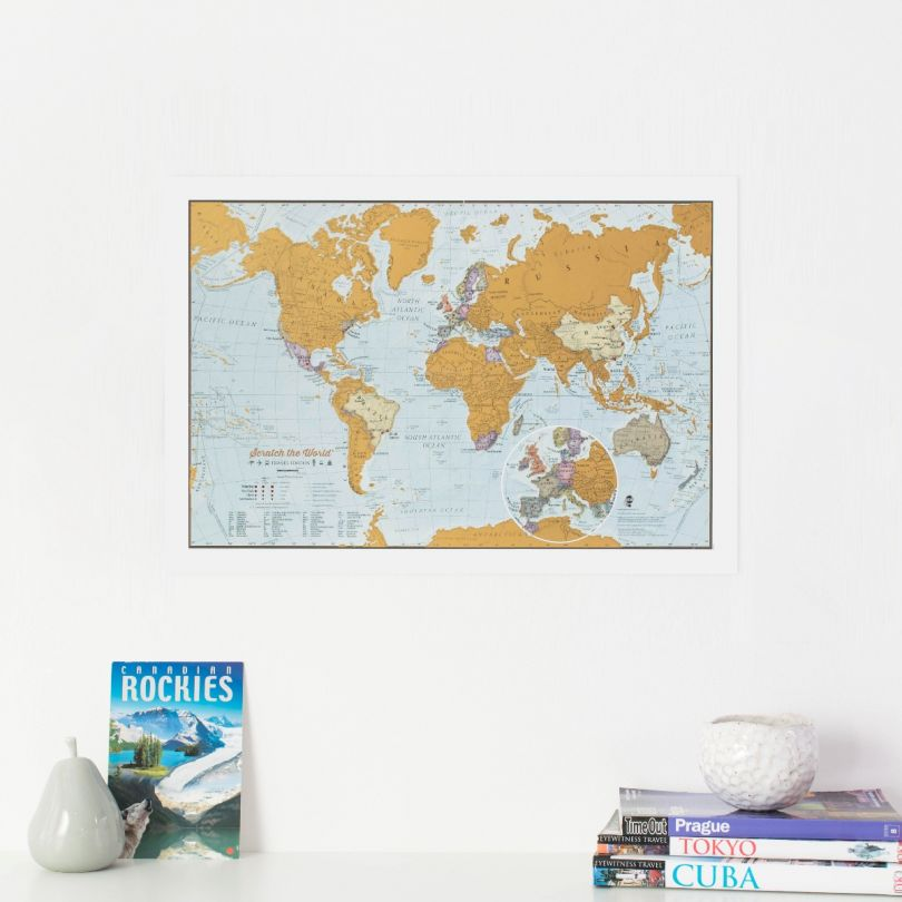 Scratch the World® travel edition map print