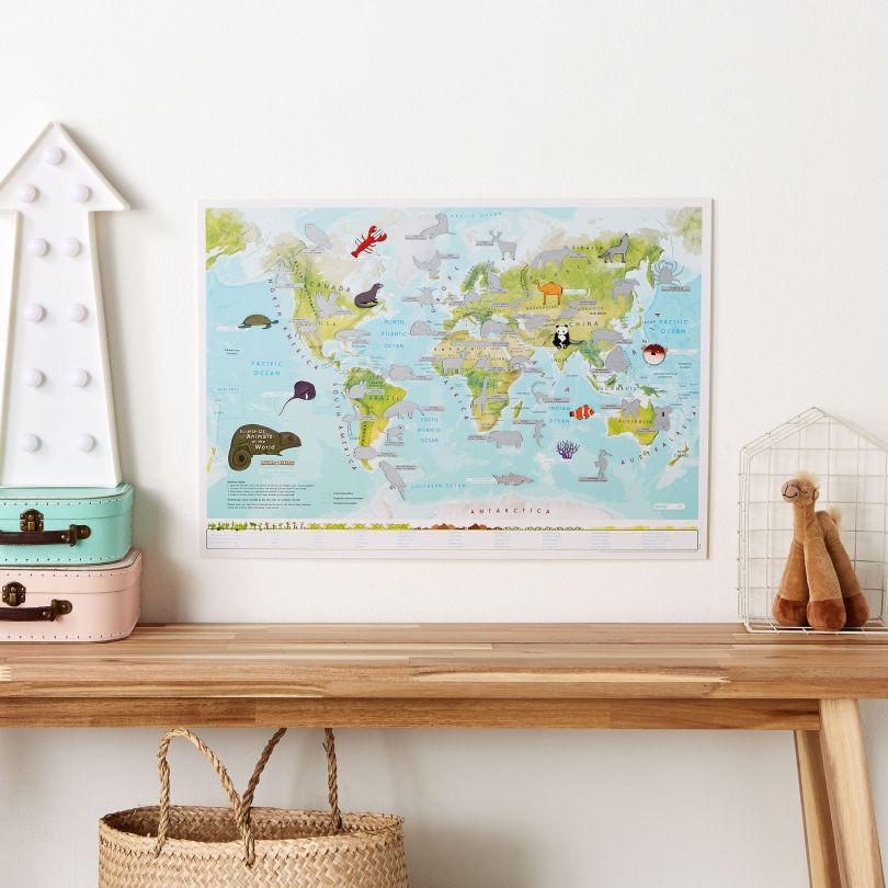 Scratch Off Kids Animals of the World Print