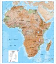 Huge Africa Wall Map Physical (Laminated)