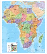 Huge Africa Wall Map Political (Laminated)
