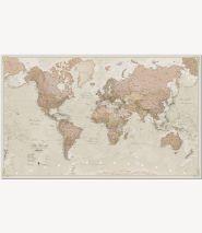 Medium Antique World Map (Pinboard)