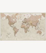Large Antique World Map (Laminated)