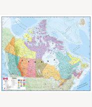 Canada Wall Map Political