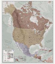 Huge Executive North America Wall Map Political (Laminated)