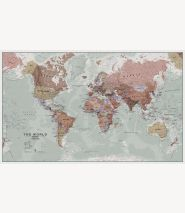 Huge Executive World Wall Map Political (Paper)