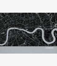 London City Street Map Print Charcoal