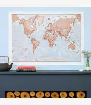 Medium The World Is Art - Wall Map Red (Paper)