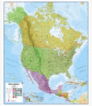 North America Wall Map Political