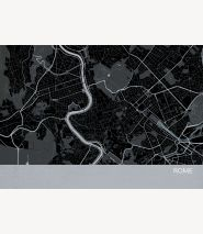 Rome City Street Map Print Charcoal