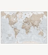 Huge The World Is Art - Wall Map Neutral (Paper)