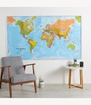 Huge World Wall Map Political (Paper Single Side Lamination)