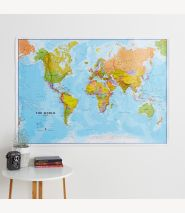 Large World Wall Map Political (Paper Single Side Lamination)