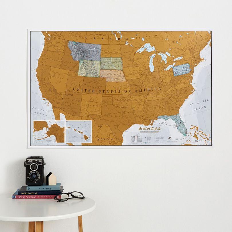 Scratch USA Print (Silk Art Paper)