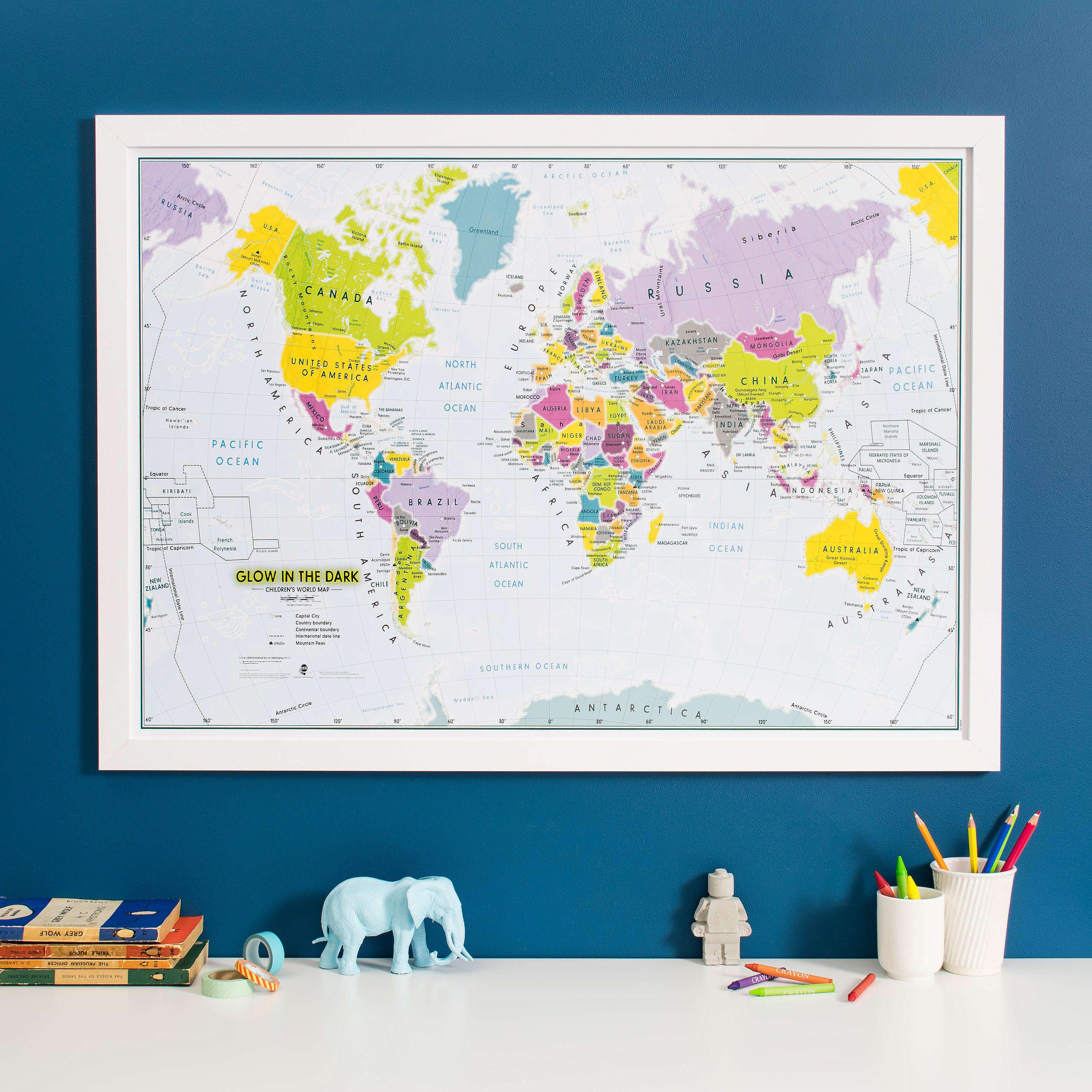 Children\'s Glow-in-the-Dark World Map