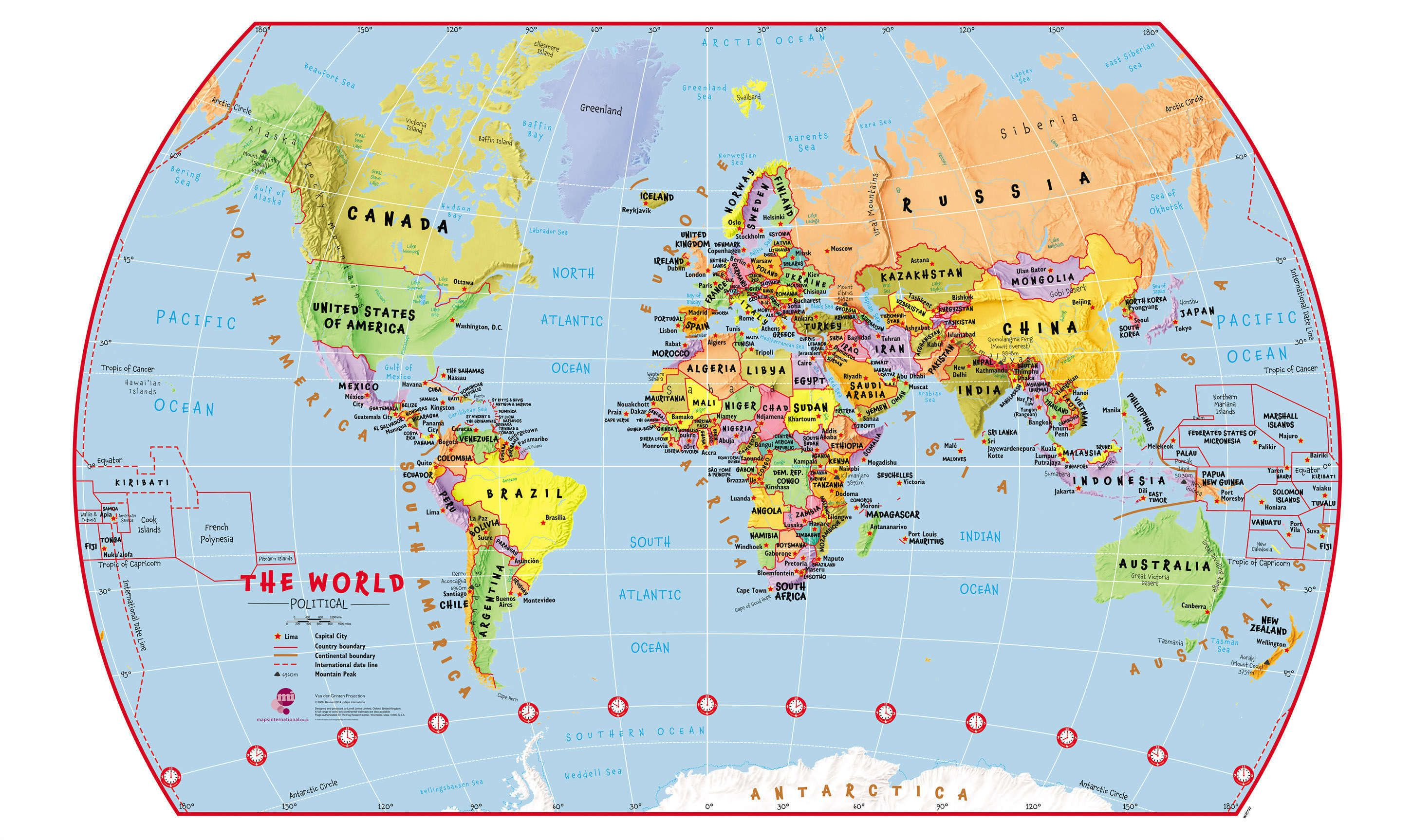 Elementary Political World Wall Map on historical map of the world, a school map of the world, a small map of the world, ethnic map of the world, cultural map of the world, religious map of the world, a globe of the world, diplomatic map of the world, geographical map of the world, linguistic map of the world, military map of the world, puerto rico map of the world, geopolitical map of the world, economic map of the world,