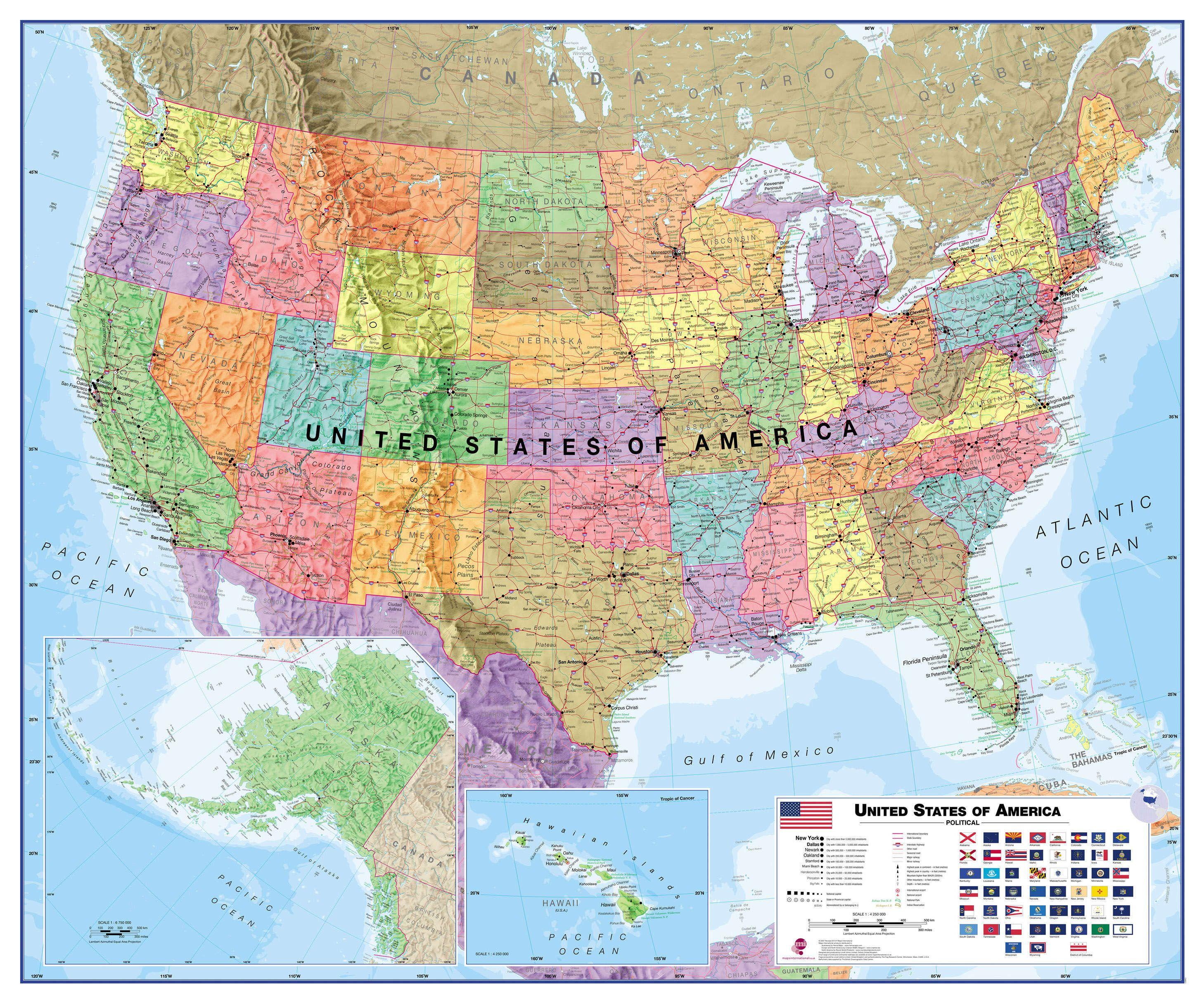 Political USA Wall Map on usa elevation map, usa diplomatic map, usa climate map, usa road map, usa education map, missouri bellwether, usa historic map, usa map labeled, swing state, usa map projection, usa city map, solid south, usa weather map, usa outline map, purple america, jesusland map, usa map with states, libertarian party, usa map with cities and towns, usa geological map, usa thematic map, republican and democratic states 2012 map, usa population density map, usa trade map, usa history map, usa topographical map,