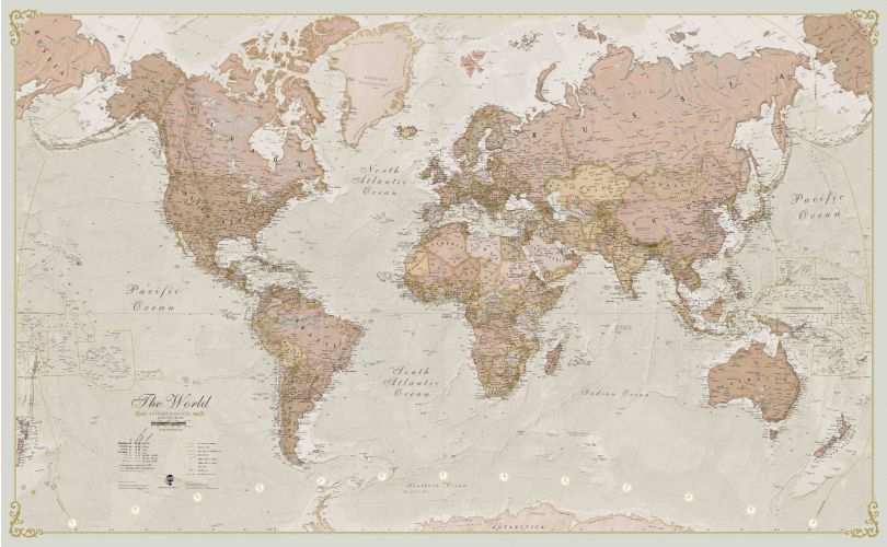 Large Antique World Map (Paper)