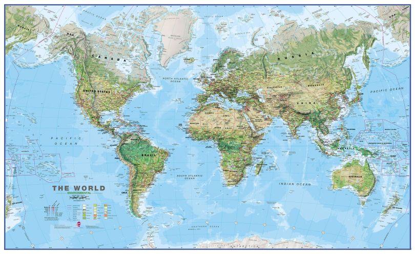 World Wall Map Environmental