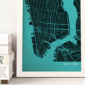City Street Map Prints